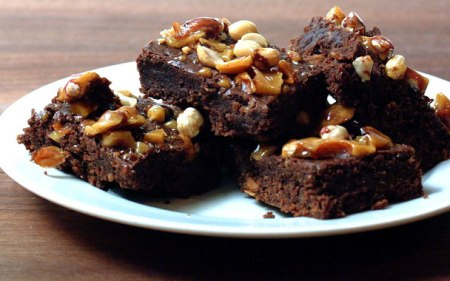 Brownies con cacahuetes