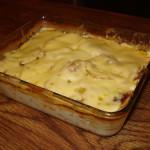 Kartoffelnauflauf, tradicional plato alemán