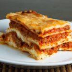 Lasaña italiana, receta sabrosa