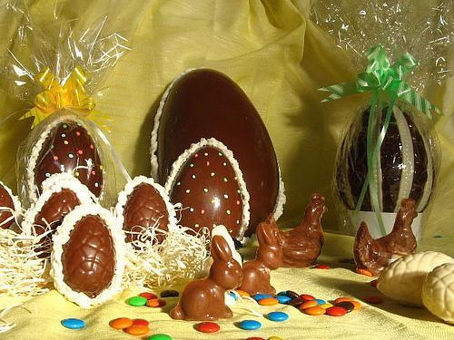 Huevos de chocolate para Pascuas