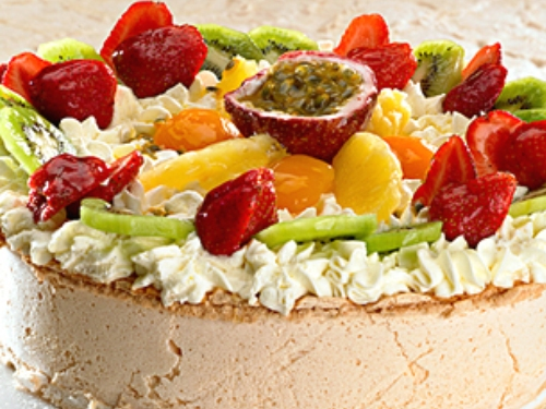 Pavlova de frutas, receta australiana