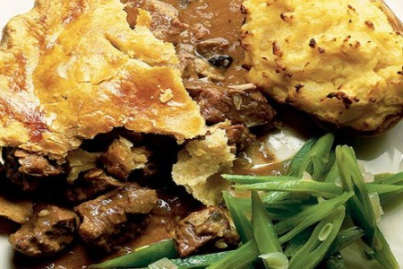 Steak and kidney pie, pastel de carne ingles