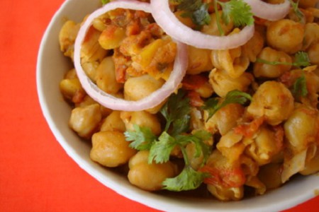 Chana masala, plato del Norte de la India