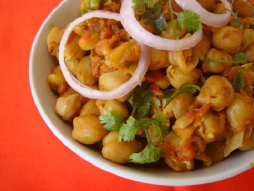 Chana masala, plato del Norte de la India