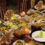 Rijsttafel o mesa de arroz indonesa