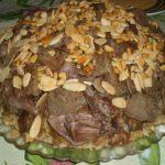 Maqluba, plato de arroz de Palestina