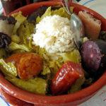 Cocido a la portuguesa, vegetales y legumbres