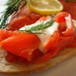 Gravlax, aperitivo en la gastronomía de Dinamarca