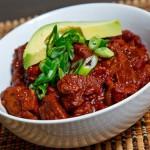 Chili con carne, comida picante de Tex-Mex