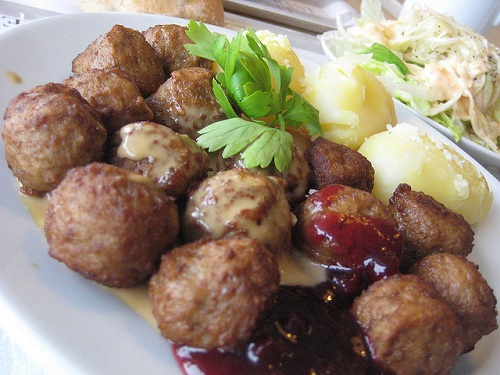 Kottbullar alb ndigas suecas - Albondigas tradicionales ...