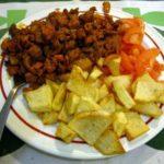 Zorzas con patatas, receta de Galicia