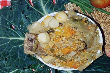 Potaje de trigo, receta de La Palma