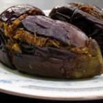 Berenjenas rellenas de almendras, delicia de la India