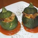 Calabacines rellenos de arroz y carne, receta de Argelia